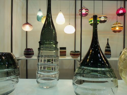 Glass fixtures by Carmen Salazar and Caleb Siemon  at LA Dwell on Design