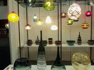 Glass fixtures by Carmen Salazar and Caleb Siemon